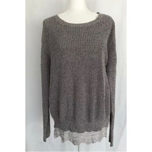 Anthropologie Pins & Needles Womens Sweater Gray S